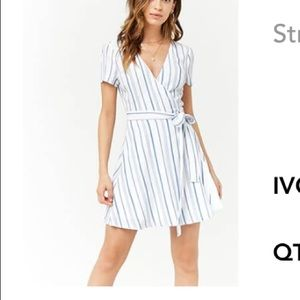 Stripped wrap dress forever 21